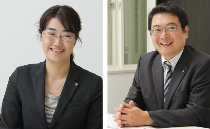 とかち支部事務局長の岩本聖史さん(写真右)と、事務局員の佐藤珠実さん。