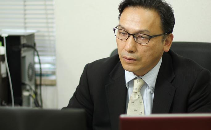 辻田茂生社長。「現在はIT技術を学びたいと思っても、ここに教育の機会が少ない。そうした人材を地元で育てる仕組みができれば」と、話してくれた。